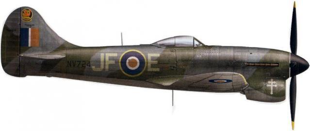 Hawker tempest mk v jf e nv724 f lt pierre clostermann 3 sqn lubeck mid august 1945