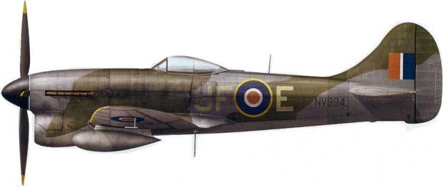 Hawker tempest mk v jf e nv994 f lt pierre clostermann 3 sqn rheine hopsten b112 20 april 1945