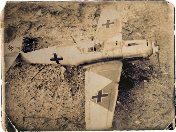 Messerschmitt bf 109 e 1 oblt georg schneider 1 32 top view old