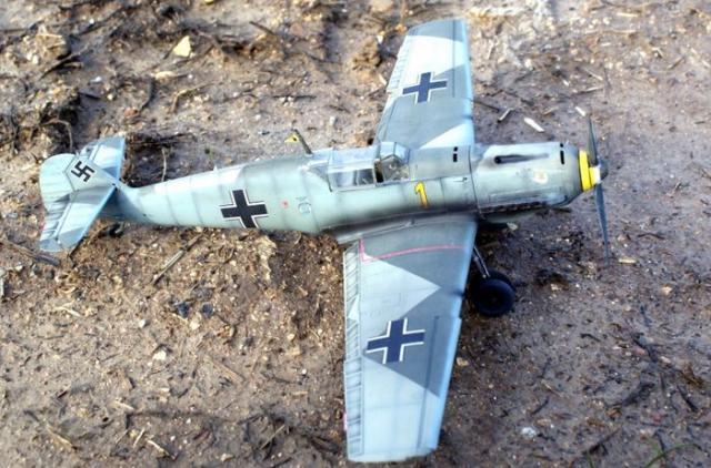 Messerschmitt bf 109 e 1 oblt georg schneider 1 32 top view