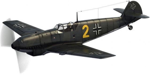 Messerschmitt bf 109d gelbe 2