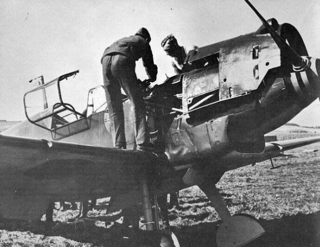 Messerschmitt bf 109d oblt georg schneider