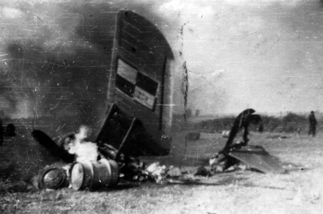 Pzl p 11 shot down