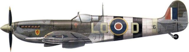 Supermarine spitfire lf ix lo d mh526 p o pierre clostermann 602 sqn ford 6th june 1944