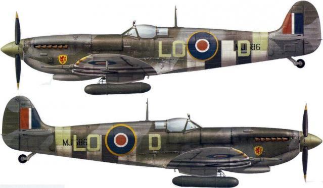 Supermarine spitfire lf ix lo d mj586 p o pierre clostermann 602 sqn longues sur mer alg b11 2 july 1944