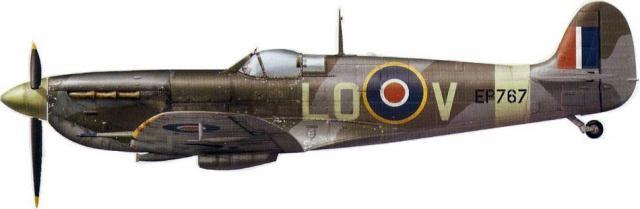Supermarine spitfire lf vb lo v ep767 602 sqn skeabrae orcades february march 1944